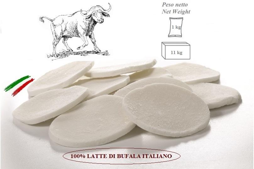 Mozzarella 100% Latte di Bufala Italiano a Fette da 22/35g