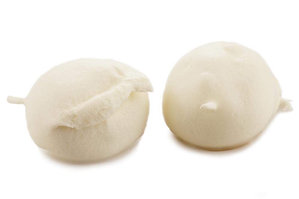 Ovoline di Mozzarella di latte di bufala 100% italiano SURGELATA - vasch. 250g (125gx2) - conf. 2 kg
