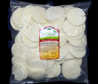 """Mozzarella a fette """"Monte Bianco"""" surgelata IQF - busta da 2,5 kg (PESO VARIABILE)"""