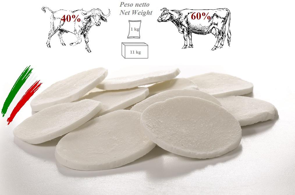 Mozzarella Latte Misto, 60% vaccino - 40% bufalino, a Fette da 22/35g