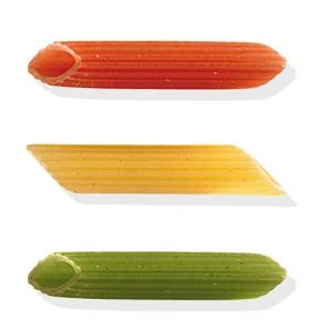 Penne rigate tricolore pasta secca - conf. da 500 g